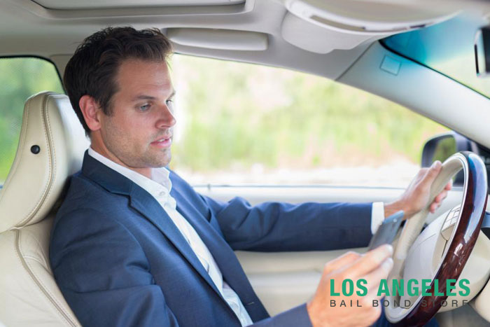 los angeles bail bond store driving distracted
