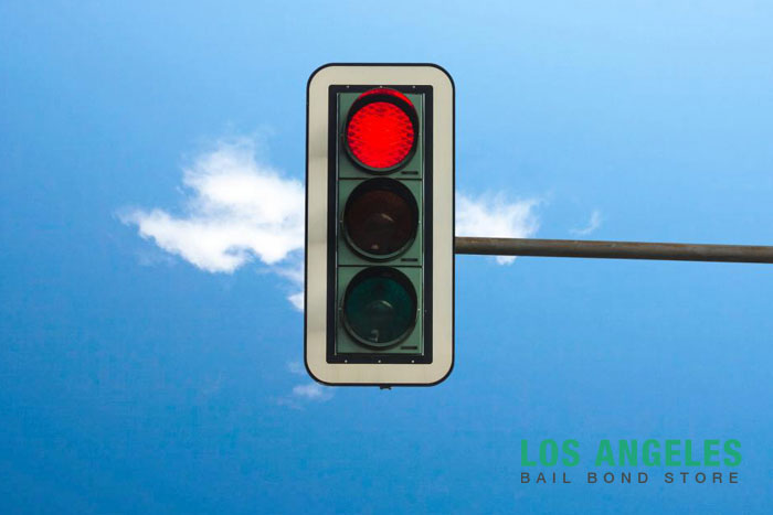 los angeles bail bond store traffic lights blackout