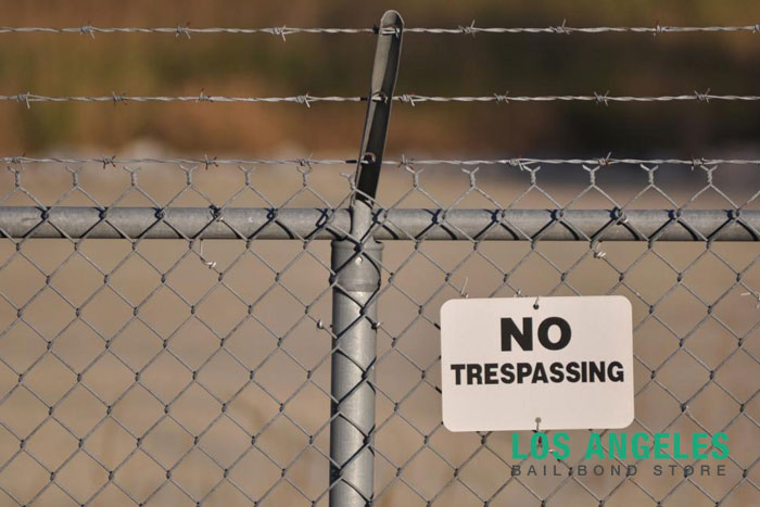no trespassing los angeles bail bond store