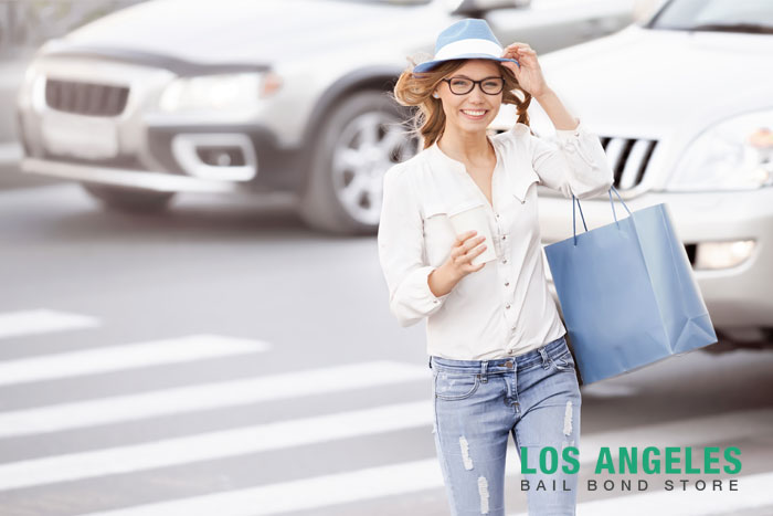los angeles bail bond store california crosswalk laws