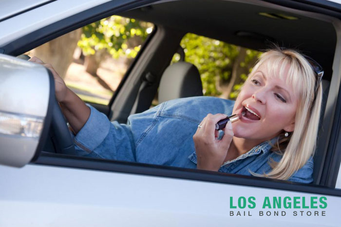 los angeles bail bond store what counts as distracted driving