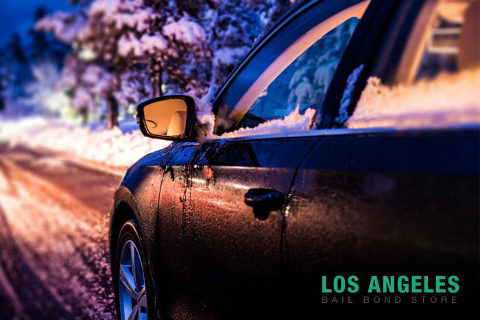 los angeles bail bond store winter weather driving tips