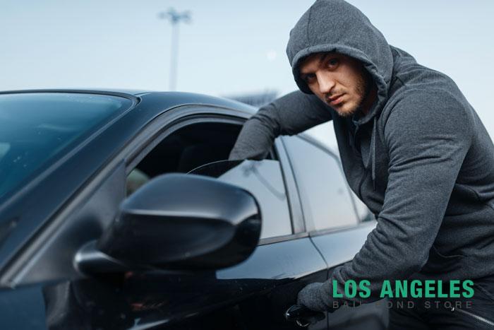 los angeles bail bond store smash and grab crimes
