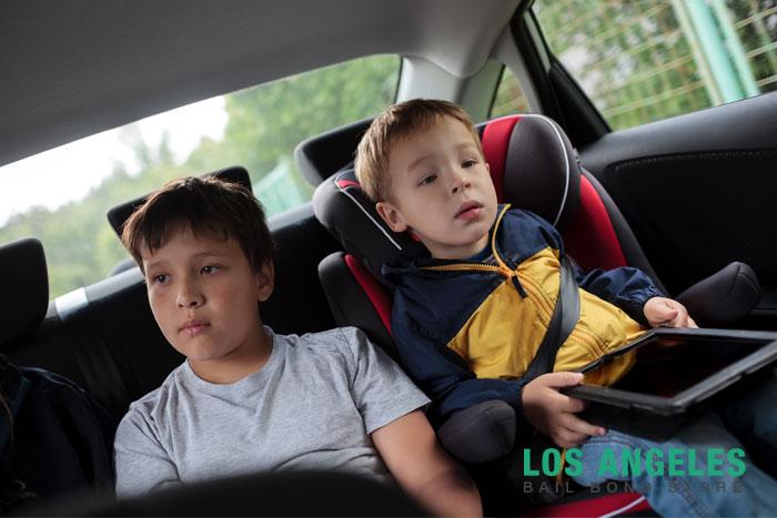 los angeles bail bond store car seat laws